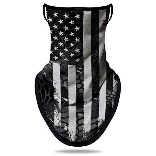 NTBOKW Bandana Face Mask with Ear Loops Neck Gaiter Mask for Men Women (Flag G0104)