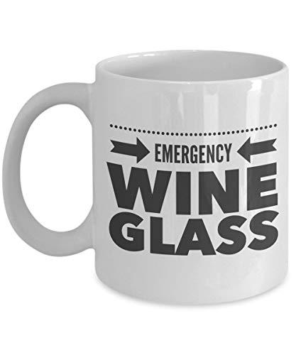 N\A Taza de Copa de Vino - Copa de Vino de Emergencia - Copa de café de cerámica de Copa de Vino Grande - Aniversario de cumpleaños Stuffer - Amante del Vino Esposa Esposo Compañero de t