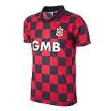 copa Fulham FC 1996-97 Away Football Shirt Camiseta Retro con Cuello de fútbol, Hombre, Rojo/Negro, XXL