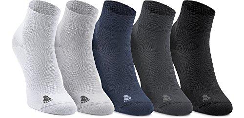 Ladeheid Unisex 5 Pack Socken aus Bambusfasern LASS0004 (Schwarz/Weiß/Navy/Hellgrau/Graphite, 44-46)