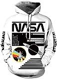 FLYCHEN Men 3D Printed NASA Hoodies Unisex Sweatshirt Hooded Pullover Color165 L
