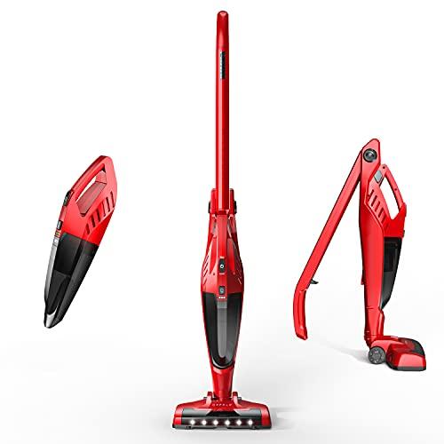 Cordless Vacuum Cleaner, ORFELD Stick Vacuum, Lightweight 4 in 1, 2200mAh Battery, HEPA Filter Upright Handheld Vacuum with Corner Lighting and Charging Base EV660R