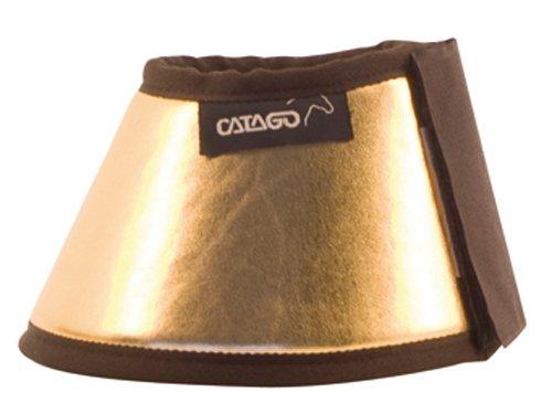 CATAGO Hufglocken METAL LOOK - XS - gold/braun