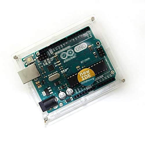 FunYoung Gehäuse für UNO R3 Board Transparente Schutzhülle Kompatibel mit UNO R3 Mikrocontroller Board