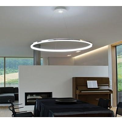 LightInTheBox Pendant Light Modern Design Living LED RingHome Ceiling Light Fixture Flush Mount, Pendant Light Chandeliers Lighting,Voltage=110-120V, Dimmable with Remote Control