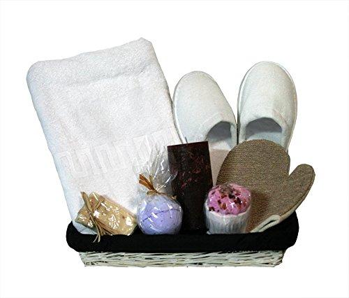 Cesta de baño regalo - Spa Maxi blanca...