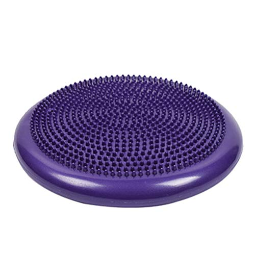 Kooshy Balance Cushion, Inflatable Anti-Slip Stability Board 33cm Sensory Cushion with a Hand Pump for Improving Balance Body Posture and Tone Muscles