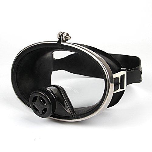 LBAFS Máscara De Buceo Profesional Antivaho Visión Grande Máscara De Vidrio Templado De Silicona Plana Espejo Natación