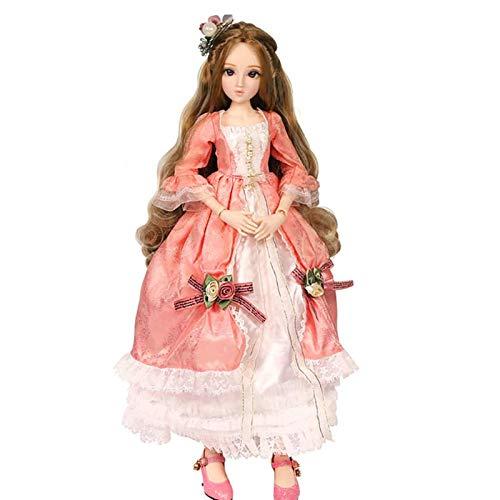 JXINGY Kit de muñeca BJD 1/3, muñecas SD de 23,6 Pulgadas, 19 muñecas articuladas con Bola con Ropa, Zapatos, Peluca, niñas