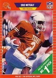 1989 Pro Set Football Rookie Card #489 Eric Metcalf