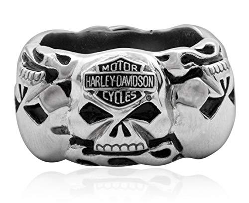 HARLEY-DAVIDSON MOD Multi Skull Band Ring, 13 = 23mm Ø