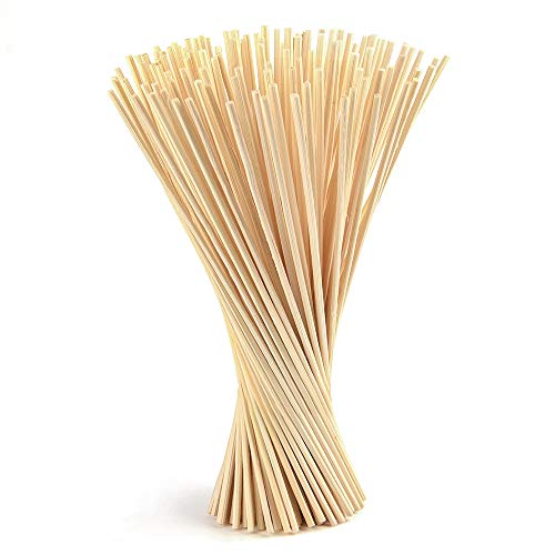 FEPITO 150 Unids Reed Diffuser Sticks Aceite Aroma Difusor Sticks Madera Rattan Reed Sticks (150pcs, Wood color)