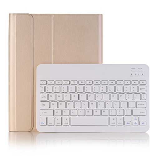 Keyboard Case for New iPad Pro 12.9 2020 Release 4th Generation 2020 /3th Generation 2018 Case, Lightweight Magnetic Flip Leather Cover with Detachable Wireless Bluetooth Keyboard Case (Gold)