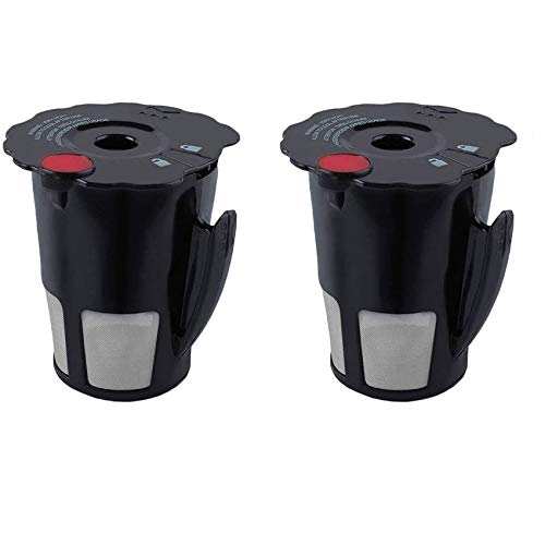 Podoy Reusable Coffee Filter for Compatible with Keurig K-Cup My 119367 2.0 Updated Model Black Small Coffee Filter K200 K250 K300 K350 K400 K450 K460 K475 K460 K500 K550 K560 K575(Pack of 2)