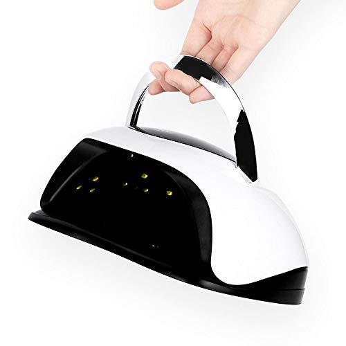 120 W LED-UV-Lampe für alle Gel-Nagellacke mit 4-Timer schnell aushärtend Nageltrockner High Power Auto Sensing Gel Light Nagel