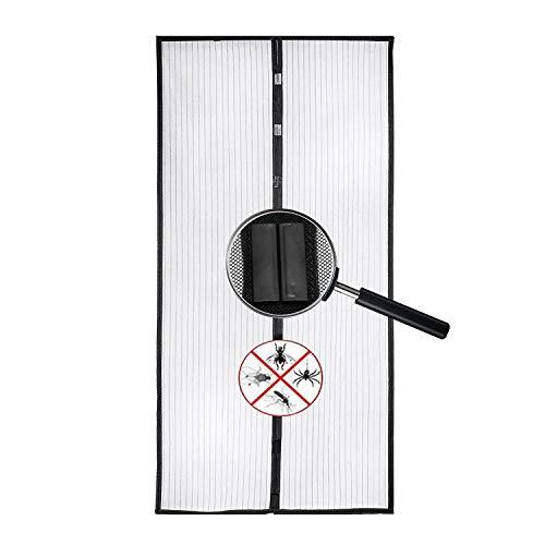 Magnet Fliegengitter Tür Insektenschutz, Magnetischer Türvorhang mit Glasfaser Material Insektenschutz für Balkontür, Klebemontage Ohne Bohren, Fliegengitter Magnetvorhang für Türen Schwarz 95 * 200