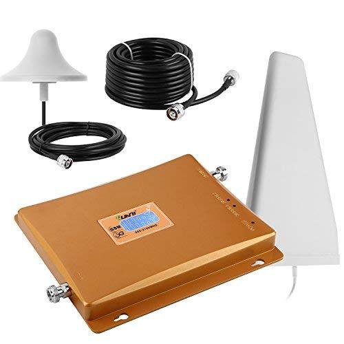 Yuanj 900 2100MHz Amplificatore Cellulare Ripetitore 3G gsm Amplificatore Segnale Telefonica UMTS con Antenne per Tim Wind VODAFONE 3g