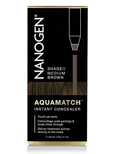 Nanogen Aquamatch - Corrector Cuero Cabelludo resistente al agua: Castaño Medio