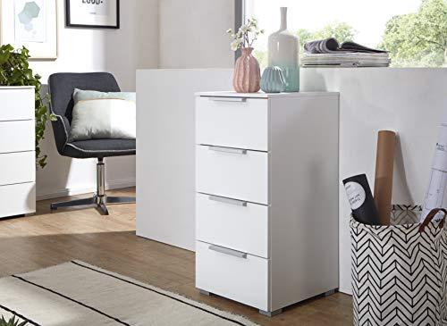 Rauch Möbel Cusco Kommode, Kommode mit Schubladen in Weiß und 4 Schubladen BxHxT 40x81x42 cm