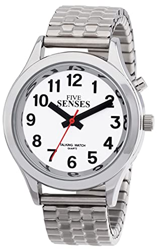 English Talking Watch for Seniors Women Talking with Day-Date Loud Alarm Clock Visually Impaired by Five Senses1156