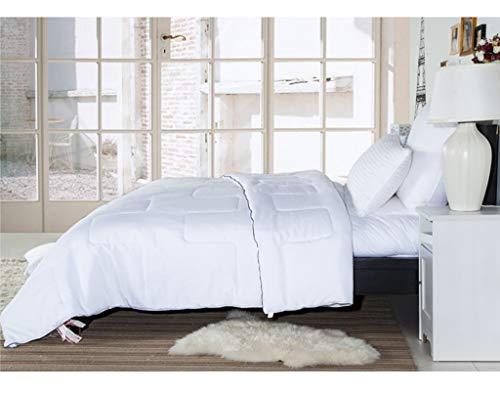 QUILT Weiß Bettwäsche Decke mit Corner-Taste, King Size 230 * 229cm weiche Daunen, Winter warm Fluffy hypoallergen, Bequeme Wintersteppdecke hält warm und kalt