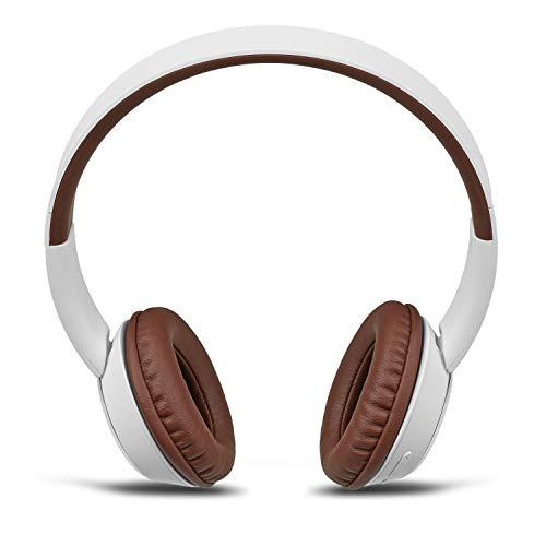 MEDION E62380 Bluetooth Over Ear Kopfhörer (kabellos, Freisprechfunktion, 10 Stunden Akkulaufzeit, gepolsterte Ohrmuschel, 3,5mm Klinke) weiß
