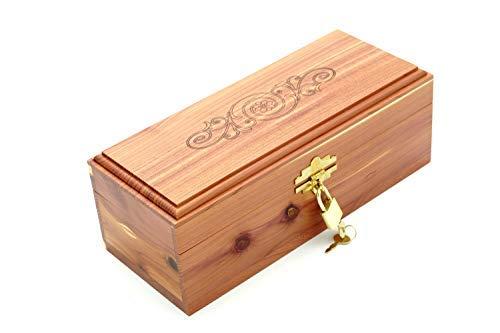 Cedar Essence Keepsake 7'L x 4'W x 3 1/4'H with lock and key (Small) Stamped