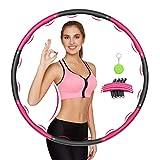 Awroutdoor Fitness Exercise Hoop Fitness Desmontable, Professional Exercis Hoop Adultos Fitness 1,2kg para Adelgazar,...