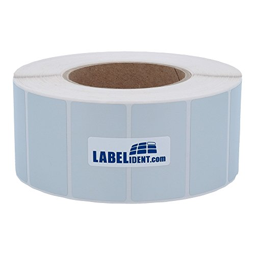 Labelident Thermotransfer-Etiketten 57 x 38 mm, formatgleich mit Zebra Z-Ultimate 3000T, 880374-038 - 3634 Polyesteretiketten auf 3 Zoll Rolle für Standard- und Industriedrucker, selbstklebend