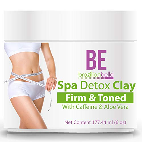 Brazilian Spa Detox Body Clay for Inch Loss Body Wraps, Detox and Cleanse -Rejuvenate and Improves Skin Texture- All Natural Ingredients - 6 oz