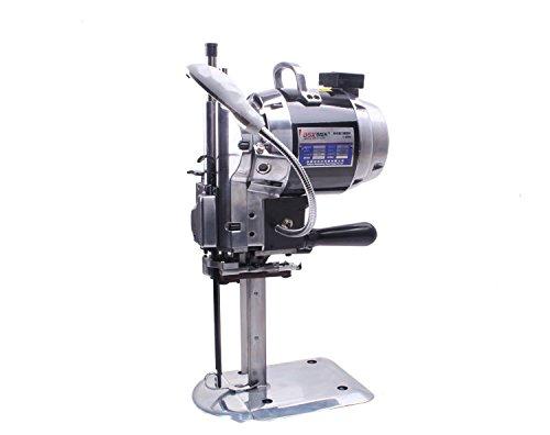 Hanchen C-800 verticaal recht mes elektrische stoffen snijmachine voor stoffen bekleding leer papier elektrische schaar automatische slijpen lemmet diameter 15,2 cm 850 W maaihoogte 1-16 cm (8 inch) (snijdikte: 160 mm), 850 W)