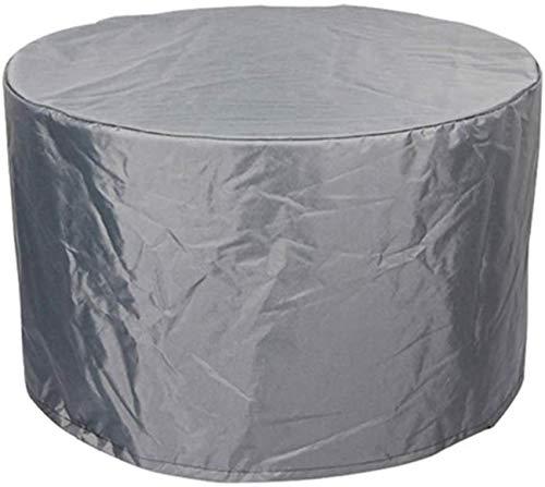 Cubierta de Mesa Redonda Muebles de jardín Lona de Patio al Aire Libre Resistente a la Lluvia Resistente al Polvo/al Sol Fácil de almacenar Protección para Muebles inactivos 25 Tamaños