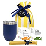 Tea Gift Set for Tea Lovers - Includes Double Insulated Tea Cup 12 Uniquely Blended Teas a...