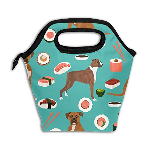 Lao Yang Mai Dog Boxer Sushi Chopsticks Cute Japanese Best School Lunch Containers Bag Pail Pack Accessories Tote Ice Cooler Insulated Reusable Box Hot Food Bento Warmer Prep Set Kit Decorations