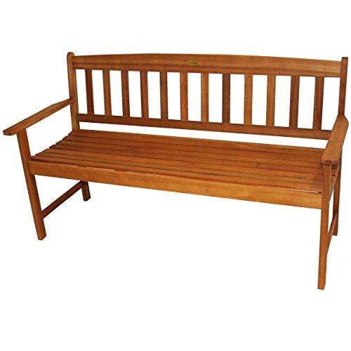 Unbekannt 3 sitzer Gartenbank 154cm Pazifik Bank Möbel Holzbank Parkbank Sitzbank geölt