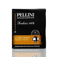 pellini caffè macinato per macchina espresso gran aroma n.3, 2 confezioni da 250 g, 500 g