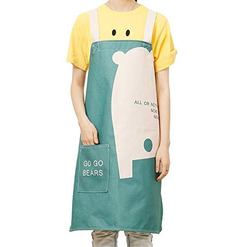 YXDZ Nordic Kinderschürze Weiblich Männlich Mode Eltern-Kind Niedlich Küche Kochen Erwachsene Taille Arbeitskleid Nach Hause Db Medium 75 * 78Cm