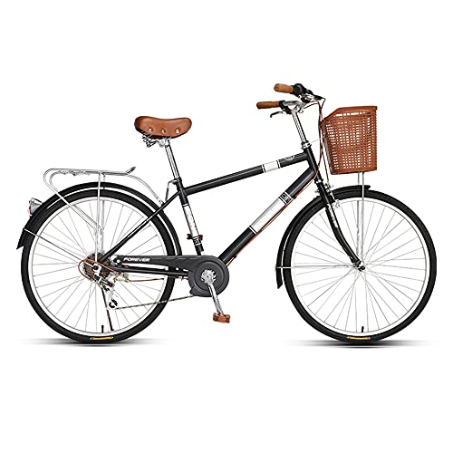 Bicycle, Variable Speed Bicycle, 7-Speed, 26-inch Wheels, High-Carbon Steel Low-Span Frame, Used for Traveling to Work, Suitable for Women, Students/A/As Shown