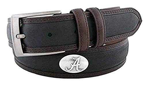 ZeppelinProducts UAL-BBLPS-BLK-40 Alabama Concho Two Tone Leather Belt44; 40 Waist