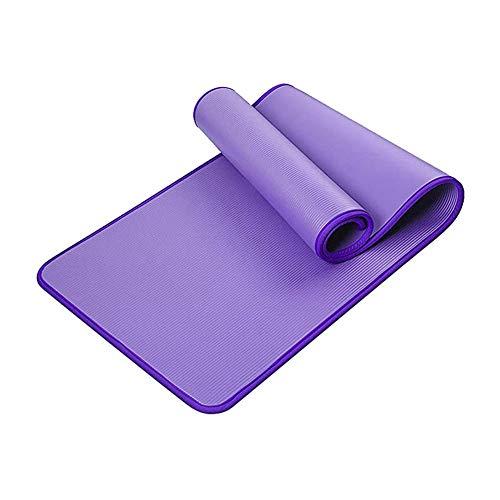 BAWAQAF Esterilla de yoga, esteras de yoga de 15 mm, alfombrilla de yoga antideslizante, estera de ejercicios en el hogar, alfombrilla de baile, esterilla de yoga portátil