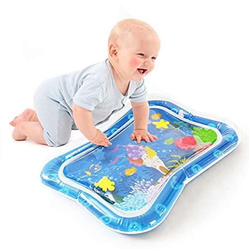 Tummy Time Water Mat Tappetino Gonfiabile per Neonati Bambini Centro per Giochie Bambino Gonfiabile Tappeti Giochi d'Acqua Tampone per L'acqua di Raffreddamento del Bambino Estivo Tema Marino