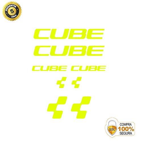 Fahrrad Aufkleber - Fahrrad dekorative Aufkleber - Vinyl Fahrrad Aufkleber Set Cube 2 FAHRRADRAHMEN Aufkleber BICI