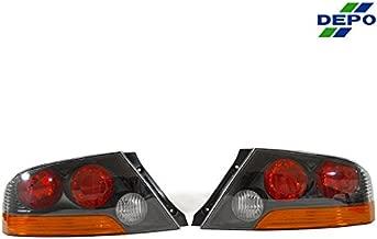 DEPO 2003-2006 Mitsubishi Lancer Evolution EVO 8 / 9 Black Amber JDM Tail Lights Set