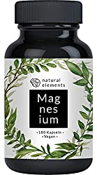Premium magnesium citrate - comparison winner 2020 * - 2250mg of which 360mg elemental magnesium per daily dose - 180 capsules - Laboratory-tested, high-dose, made in Germany