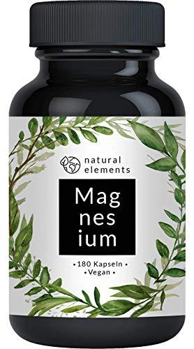 Premium Magnesiumcitrat - Vergleichssieger 2020* - 2250mg davon 360mg elementares Magnesium pro Tagesdosis - 180 Kapseln - Laborgeprüft und hochdosiert