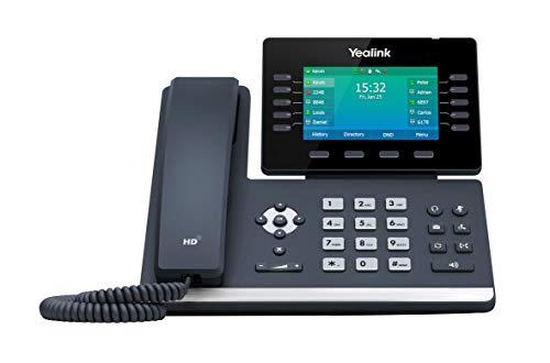 Yealink SIP-T54W - Teléfono IP (Negro, Terminal con conexión por cable, Botones, Escritorio/pared, En banda, Out-of band, Información SIP, LCD)