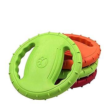 OMEM Frisbee en caoutchouc pour chien de grande taille Vert