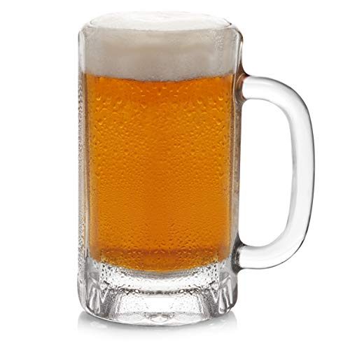 Libbey Heidelberg Glass Beer Mugs, 16-ounce, Set of 4