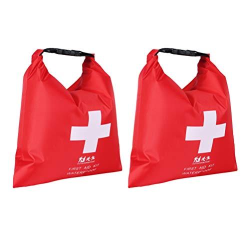 BESPORTBLE 2 Stück Erste-Hilfe-Packsack Wasserdicht Roll-Top-Sack Rafting Lagerung Notsack für Flusssegeln Wandern Kajak Angeln Camping