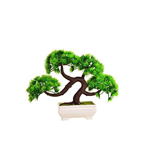 1 PC Simulado de saudação ao convidado Decoração de pinho realista pequena planta em vaso Mini plantas verdes em vasos de plantas imitação Decorações de casa de plantas em vasos de plástico Decoração de mesa para decoração de escritório doméstico Para decoração de interiores